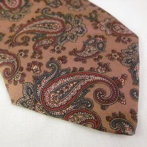 ROBERT TALBOTT Silk Necktie Paisley Brown Burgundy